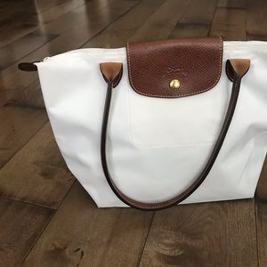 Longchamp Le Pliage Tote Bag Purse White